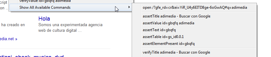 menu contextual