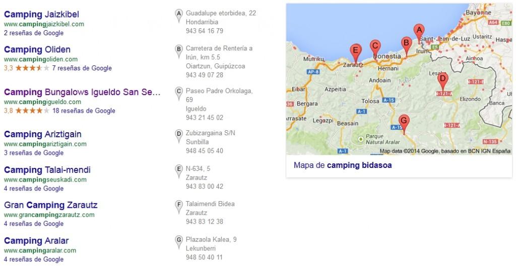 Ejemplo de Google Places