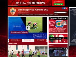 Web del Almería