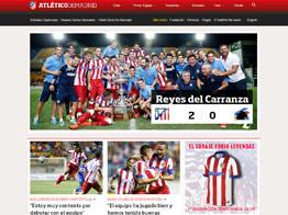 Web del Atlético de Madrid