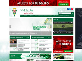 Web del Córdoba