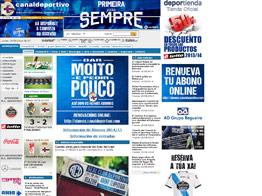Web del Deportivo de la Coruña