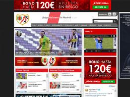 Web del Rayo Vallecano