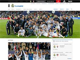 Web del Real Madrid