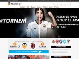 Web del Valencia