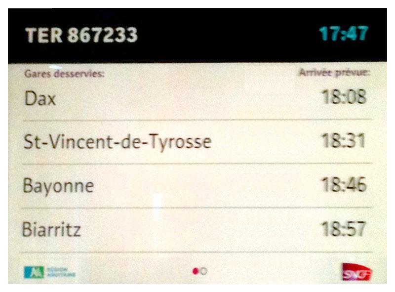 panel informativo digital de SNCF